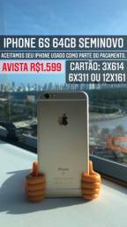 IPHONE 6s - GOLD 64GB SEMINOVO