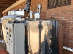 Misturador em aço inox aquecimento eletrico