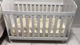 Título do anúncio: Berço infantil de madeira com colchão