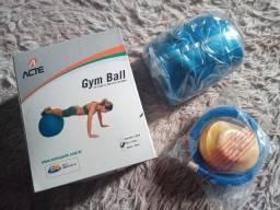Bola de Pilates Ginastica Gym Ball 65cm Azul Acte Sports Nova