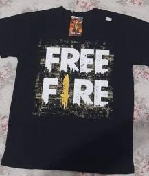 Camisa free fire infantil