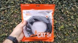 Título do anúncio: Cabo de rede 10M Cat.5E crimpado RJ45 (path cord) - PC-ETHU100BK