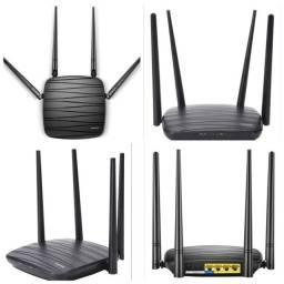 Aparelho roteador wifi 4 antenas multilaser 1200 mbps