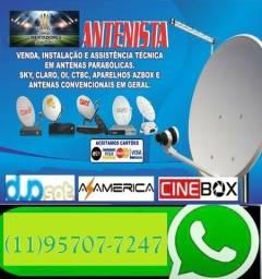Antenista Receptor Eletricista Instalador CFTV