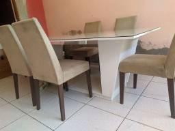 Mesa grande de jantar Com 6 cadeiras