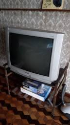 Título do anúncio: tv colorida toshiba stereo, de tubo, lumina line, modelo tv3489ims, funcionando
