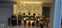 Título do anúncio: Salão de festas - com mesas - Dj - som e iluminação - piscina decorativa