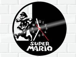Relógio de parede, Super Mario, em Vinil
