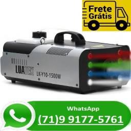 Título do anúncio: Máquina De Fumaça 1500w Com 8 Leds Rgbw E Controle Remoto (NOVO)