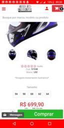 Capacete LS2 FF353 Rapid Grow Blue Titanium Black