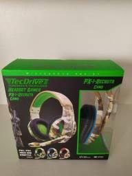 Fone Gamer - Headset Gamer TecDrive C/ Controle Vol. Camuflado - PX1 Recruta