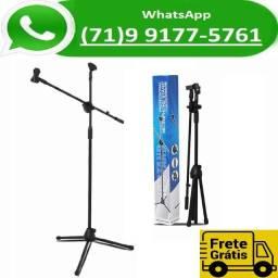 Título do anúncio: Pedestal Suporte Microfone Robusto + Cachimbo (NOVO)