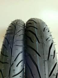 Título do anúncio: Pneus moto Pirelli 100/80-18 e 80/100-18 para CG, YBR Factor,