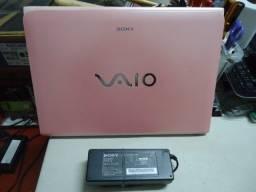 Título do anúncio: Notebook Sony Rosa SVE i3-3110M 4Gb 320Gb Bateria Dura 3Hs Tudo OK!!
