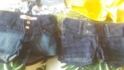Título do anúncio: Lotinho de shorts jeans femenino varios tamanhos