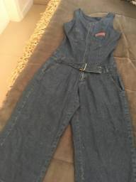 Título do anúncio: Macacão jeans juvenil