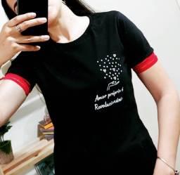 T-Shirt Feminina -Amor Próprio é Revolucionário!