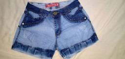 Shorts jeans feminino Novo