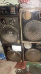 Caixas de som e amplificador oneal