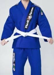 Kimono Jiu Jitsu Azul Top World Red Nose A2 + Faixa Branca