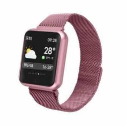 Smartwatch P68 Fitness Rosa ( loja física )