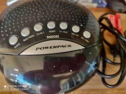 Rádio Relógio Powerpack
