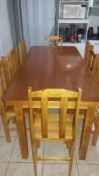 Jogo de mesa com 8 cadeiras com 2mt de comprimento e 90cm de largura nova