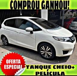 TANQUE CHEIO SO NA EMPORIUM CAR!!! HONDA FIT 1.5 EXL AUT ANO 2015 COM MIL DE ENTRADA