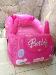 Piscina inflável da Barbie , colete inflável e bóia infantil criança