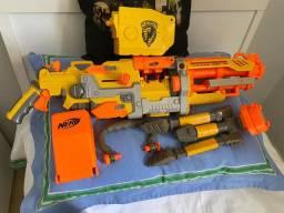 Nerf minigun usada,em perfeito estado