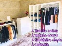 Monte sua loja completa box sapataria boutique estante colmeia balcão vitrine cabideiro
