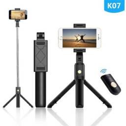 Tripé Com e Pau De Selfie Para Celular Bluetooth Sem Fio K07