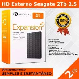 Hd Externo Seagate de 2Tb - Novo - Pronta Entrega