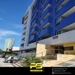 Título do anúncio: (MOBILIADO) Apartamento com 1 dormitório para alugar, 45 m² por R$ 2.200/mês - Cabo Branco