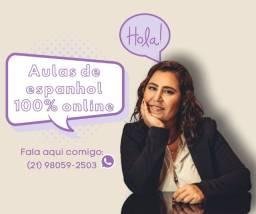 Aulas de espanhol 100% online