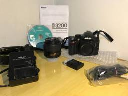 Câmera Nikon - D3200 Semi Profissional .