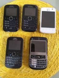 5 celulares não sei como estão