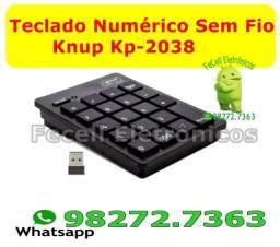 Título do anúncio: Teclado Numérico Sem Fio Knup Kp-2038