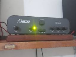 NCA Amplificador AB 100 + Par De Caixas Jvc Passivas