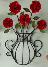 Vaso de Flor Artesanal Varias Cores
