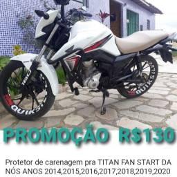 Título do anúncio: PROTETOR DE CARENAGEM PARA MOTO XRE 300, BROS, TITAN 160, POP, START PROMOÇÃO ILIMITADA!!