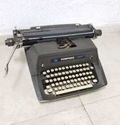Máquina De Escrever Alemã Torpedo 100 Antiga Retrô Vintage