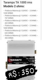 Módulo Taramps Ta 1000 1000w Rms 1 Canal 2 Ohms Amplificador