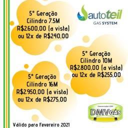 Kit Gás 5° Geração GNV Instalação