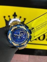Relógio thunderbolt azul c/ entrega grátis