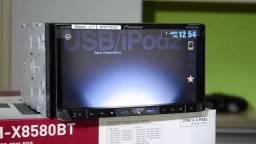 Vendo DVD Pioneer AVH-X8580BT completo com Câmara de Ré e TV