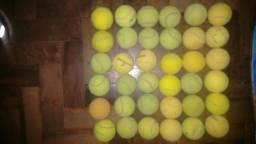 36 bolas de tênis( vendo separadas tb/R$ 10 cada 3)