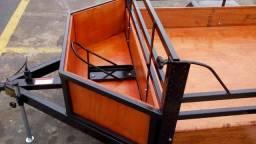 Carretinha nova 1,20x1,80 carreta/reboque