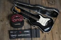 Guitarra fender Stratocaster + Pedaleira Pod Line 6 +Floor Board Line 6