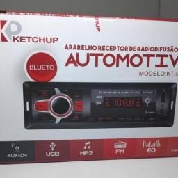 Rádio Automotivo Pen Drive Cartão De Memória E Recebe Chamada